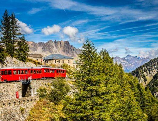The Montenvers train from Chamonix