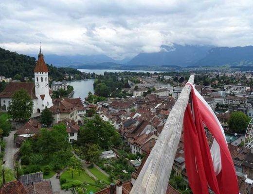 View over Lake Thun from Thun Castle