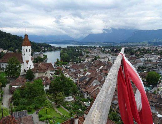View over Lake Thun from Thun Castle