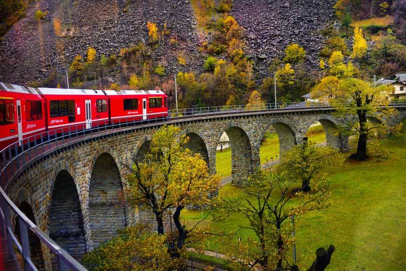The Bernina Express train ride is included with the Swiss Travel Pass