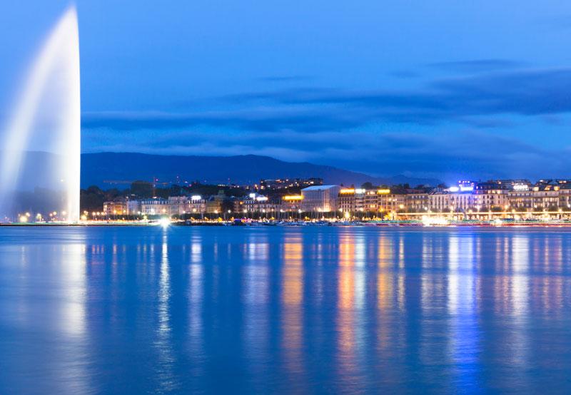 Jet d'Eau at Lake Geneva, Switzerland