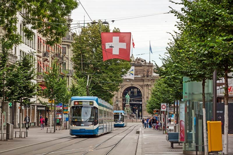 The Swiss Travel Pass includes free public transport in Switzerland.