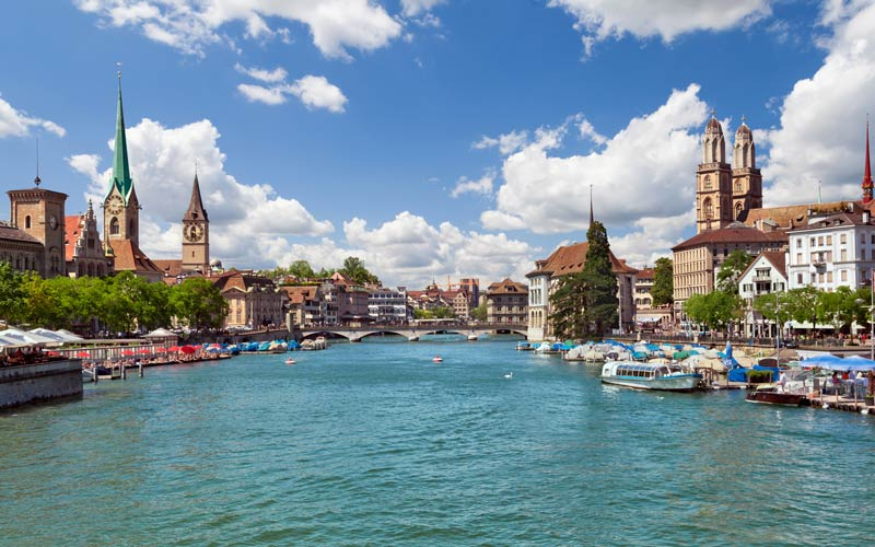 Zurich and the River Limmat