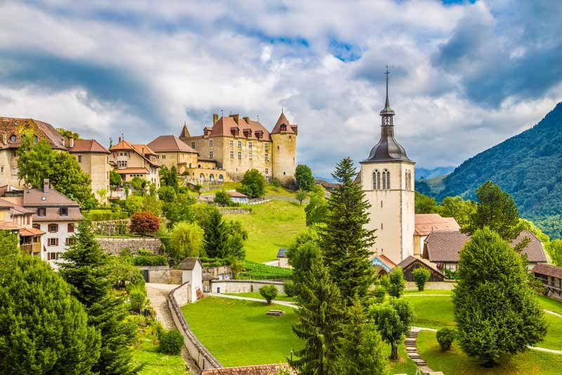Gruyere Castle in Switzerland