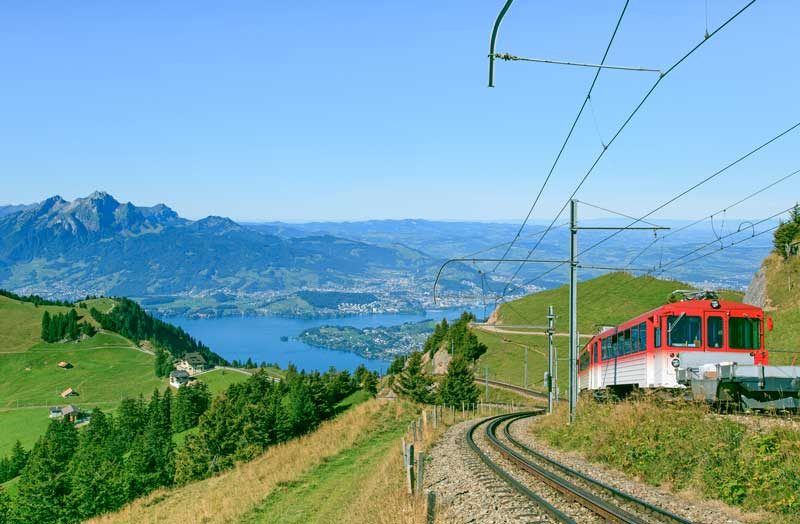 Mt Rigi cogwheel train