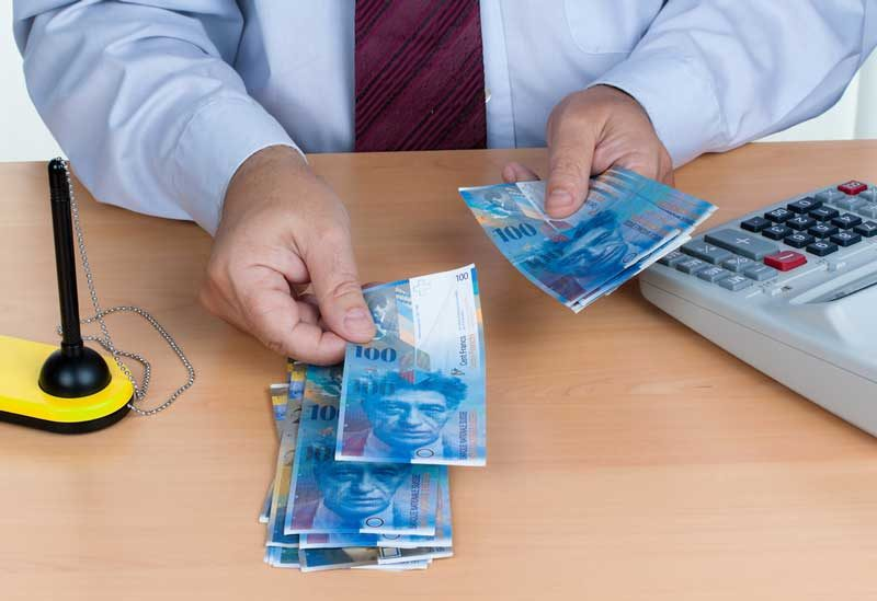 Swiss currency exchange