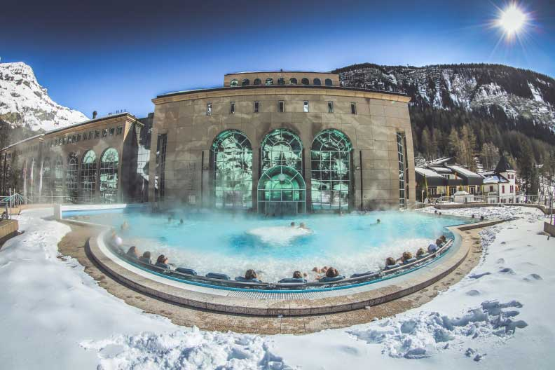 Leukerbad Therme is the largest spa resort in the Alps.