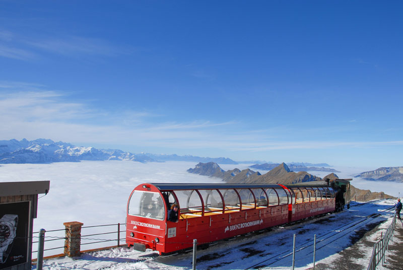 Brienz Rothorn Bahn in winter