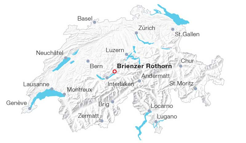 Brienzer Rothorn map