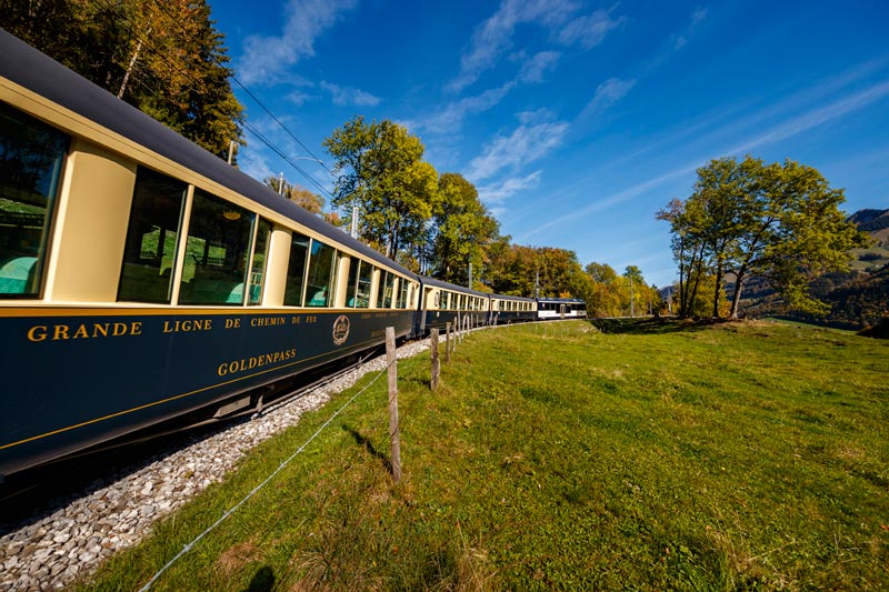 Chocolate train from Montreux to Gruyeres