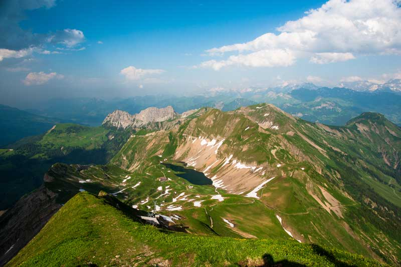 Panoramic views from Brienzer Rothorn, Switzerland.