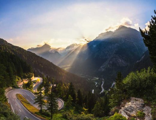 Majola Pass in Switzerland