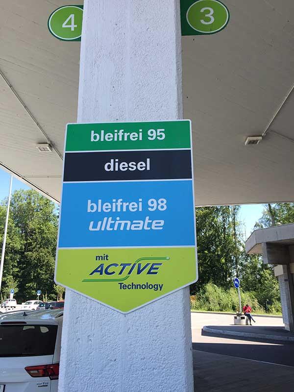 Swiss fuel station