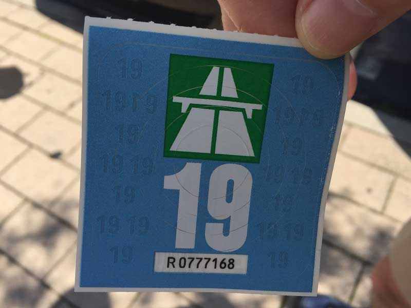 Swiss vignette (road tax sticker)