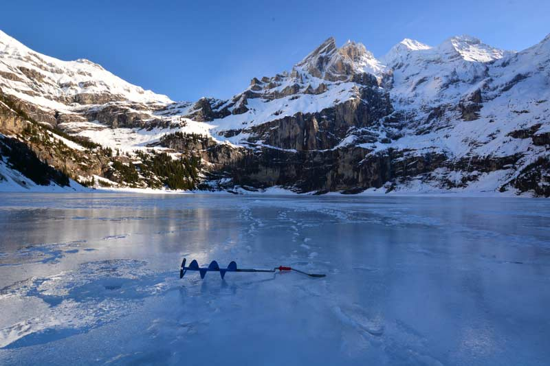 Lake Oeschinen, Switzerland, in winter