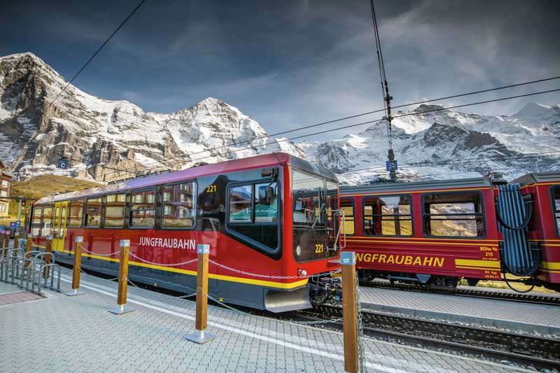 Jungfraubahn at Kleine Scheidegg