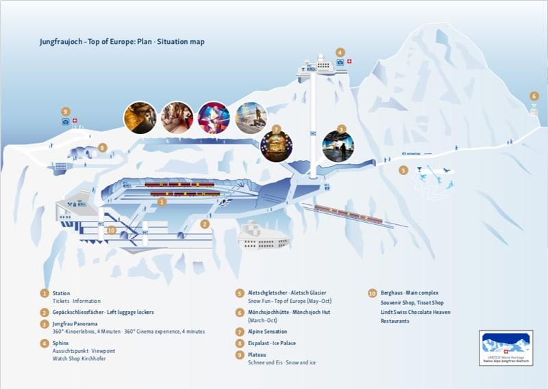 Jungfraujoch map