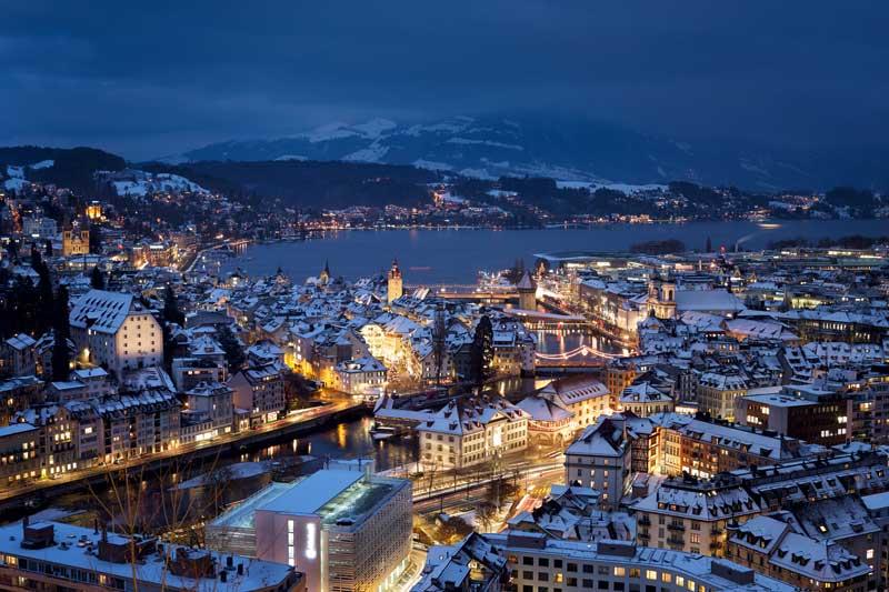 Lucerne in winter.