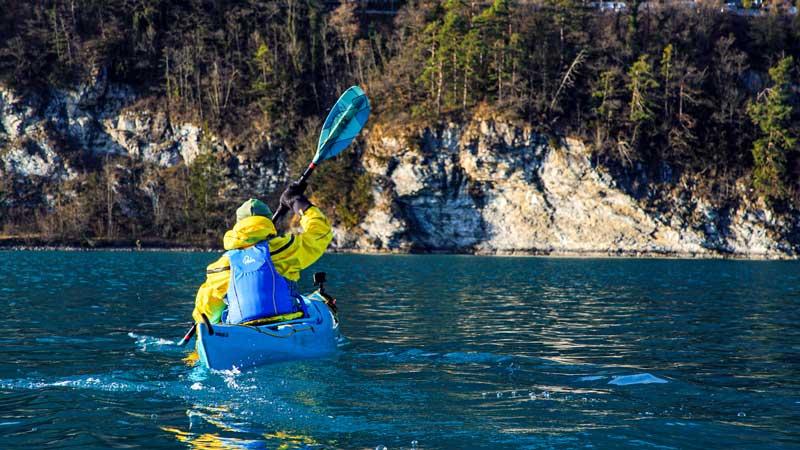 Kayaking on Lake Brienz, Switzerland