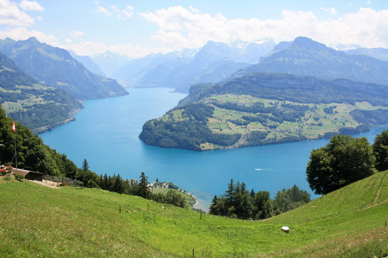 Lake Lucerne from Urmiberg above Brunnen
