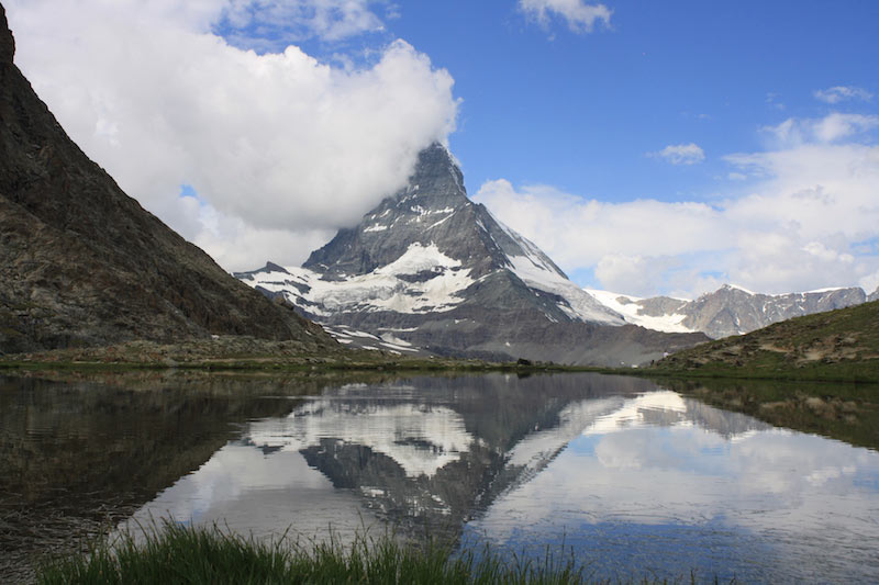 Riffelsee with Matterhorn reflection