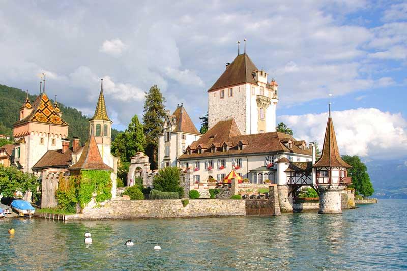 Oberhofen Castle on Lake Thun, Switzerland