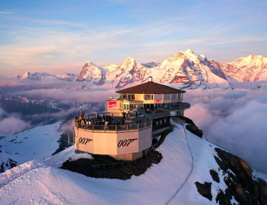 Schilthorn-Piz-Gloria-at-sunset