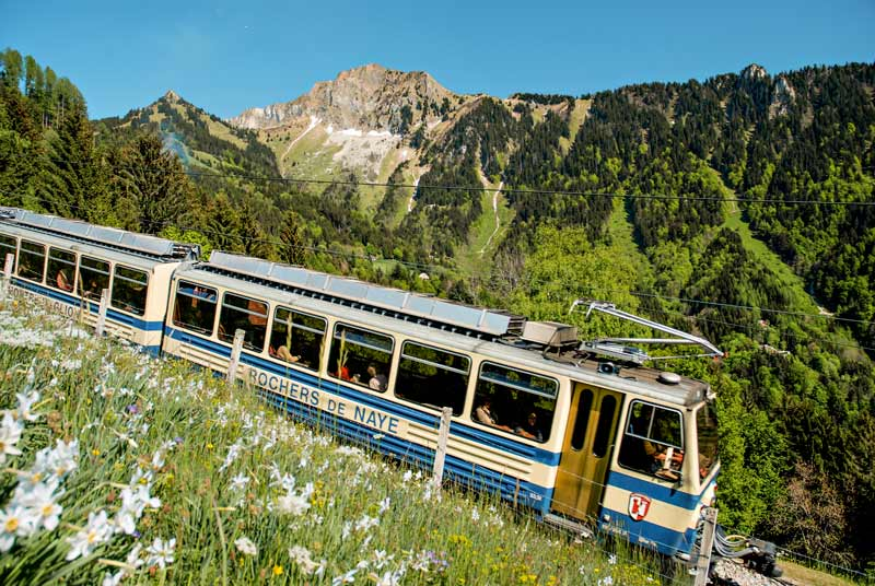 The Rochers de Naye cogwheel train