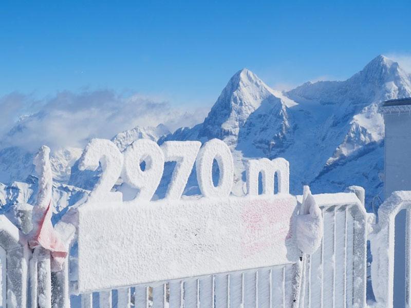 Schilthorn summit at 2970 metres