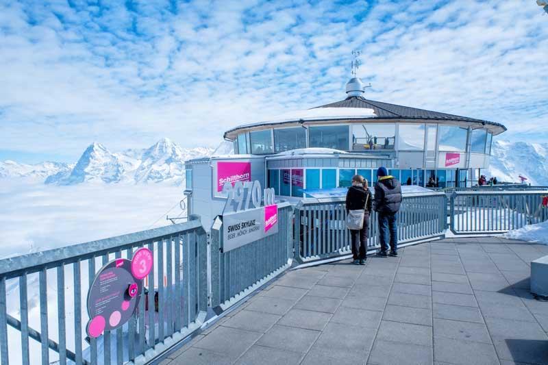 Schilthorn summit with Piz Gloria revolving restaurant