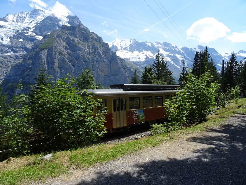 Grutschalp to Murren train