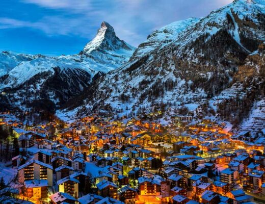 Zermatt and the Matterhorn at dawn