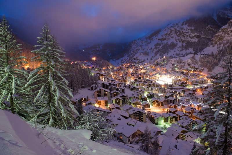 Zermatt in winter
