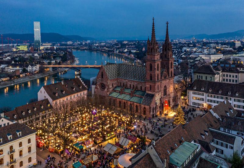 Basel Switzerland at Christmas time