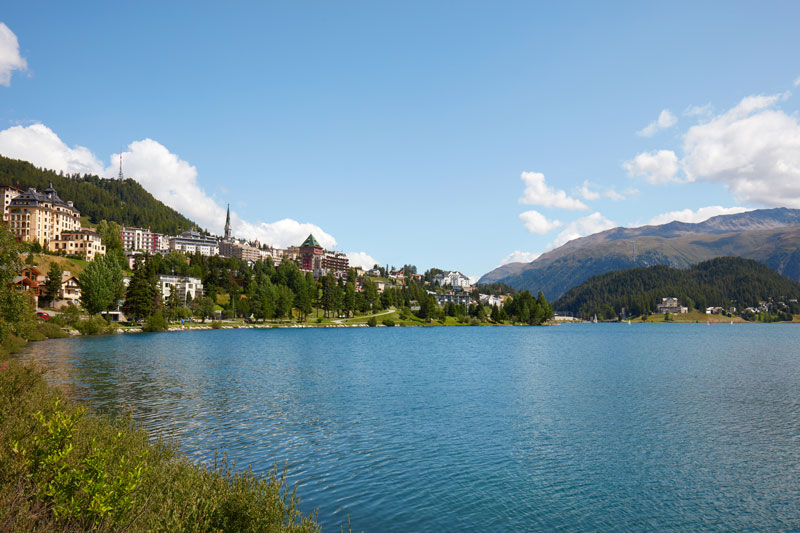 St. Moritz with the lake in the foreground