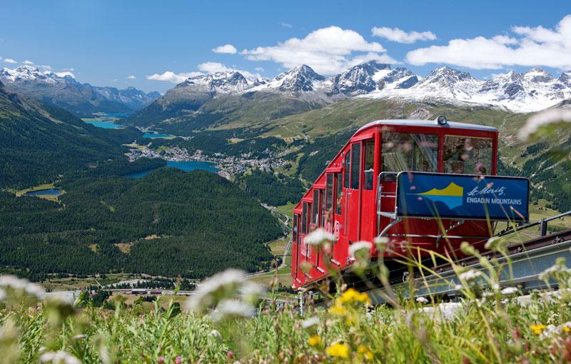 St Moritz funicular