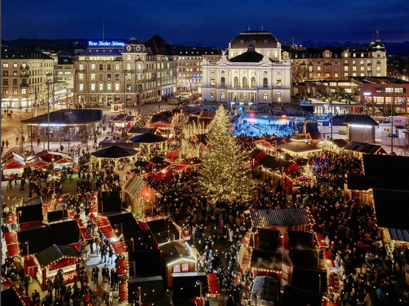 Zurich Switzerland Christmas Market