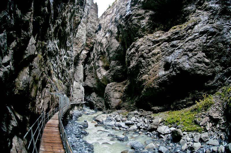 Canyon walk at Glacier, Grindelwald
