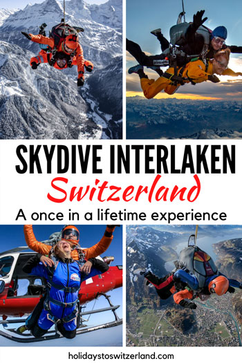 Skydive Interlaken collage