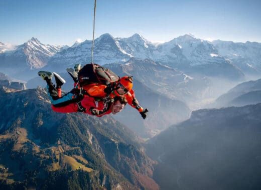Skydiving in the Swiss Alps and Interlaken region