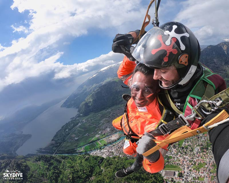 Skydiving above Interlaken Switzerland