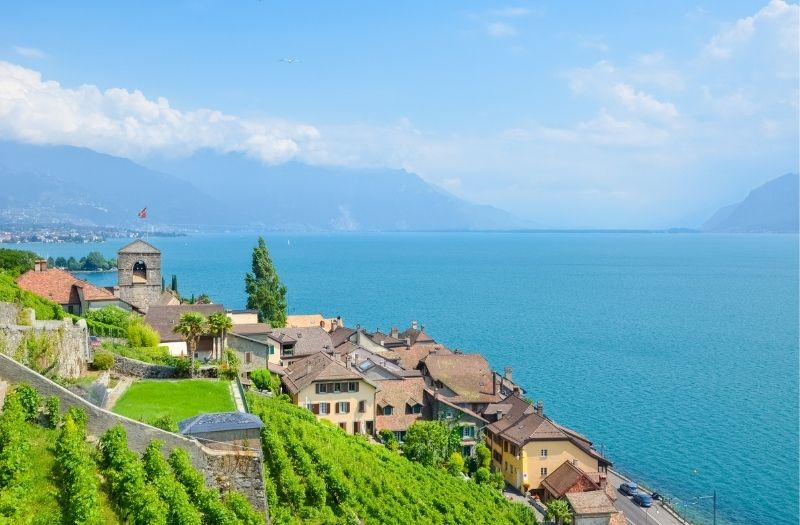 Saint Saphorin overlooking Lake Geneva