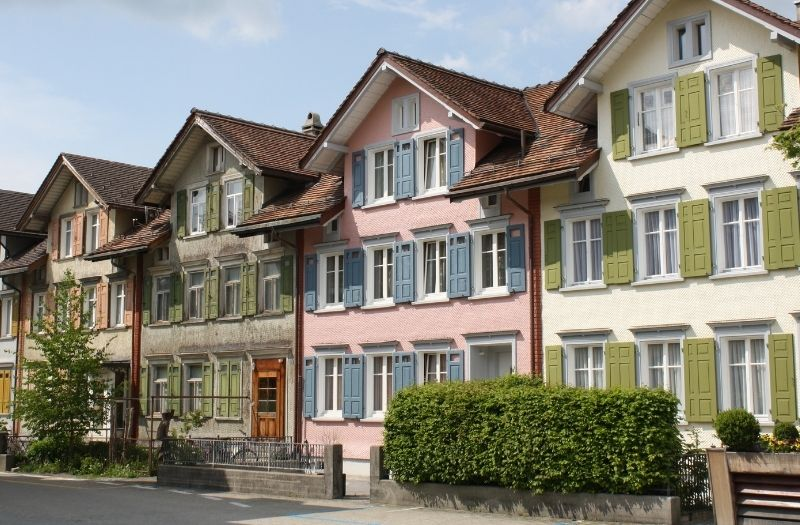 Colourful houses in Appenzell, Switzerland