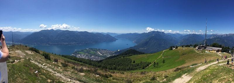 View from Cimetta above Locarno and Lake Maggiore, Switzerland
