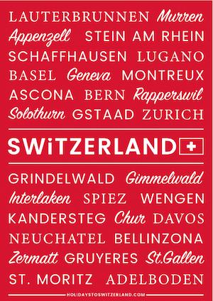 Switzerland Poster red