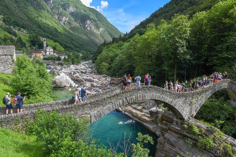 Ponte di Salti, Lavertezzo, Switzerland