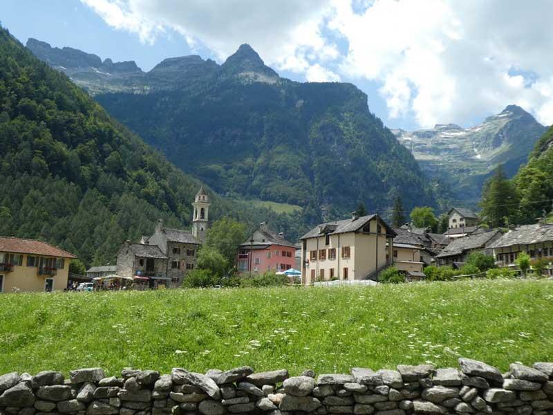 The village of Sonogno in the Verzasca Valley, Switzerland