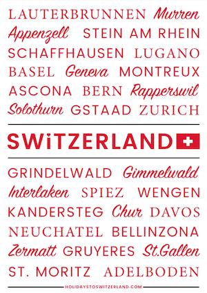 Switzerland poster white