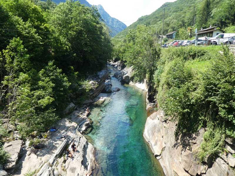 Verzasca River in Lavertezzo, Switzerland