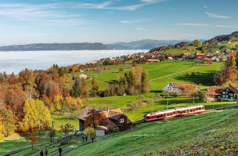 View from Heiden, Appenzellerland, Switzerland